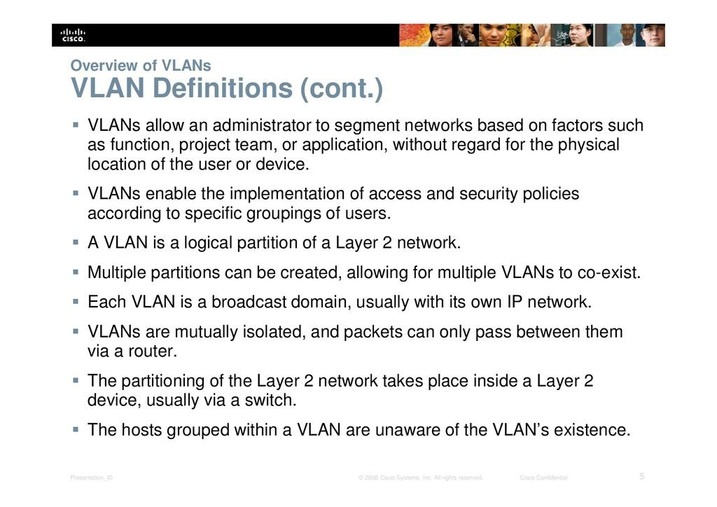 Presentation_ID 5 © 2008 Cisco Systems, Inc. Al...