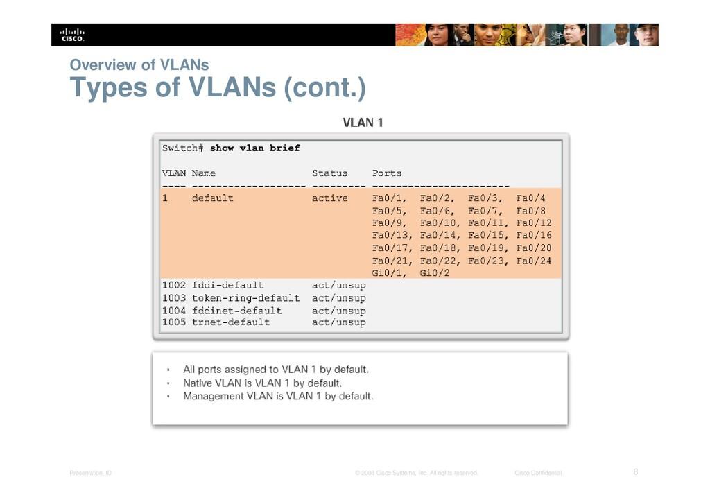 Presentation_ID 8 © 2008 Cisco Systems, Inc. Al...