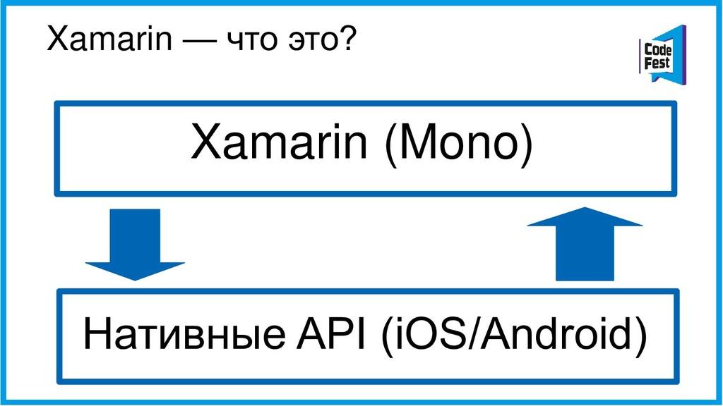 Xamarin — что это? Xamarin (Mono) Нативные API ...