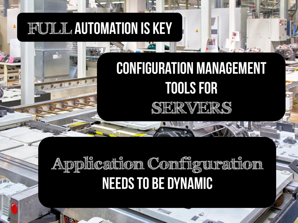 FULL Automation is key Application Configuratio...