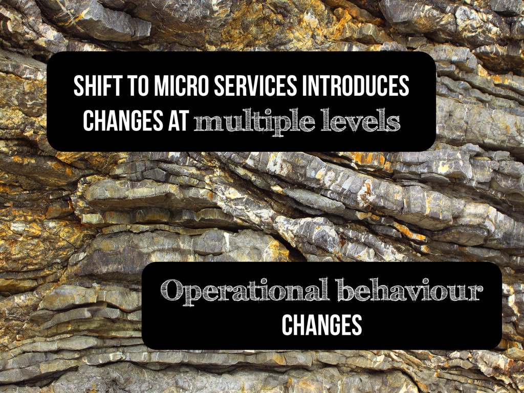 Operational behaviour changes SHIFT to micro se...