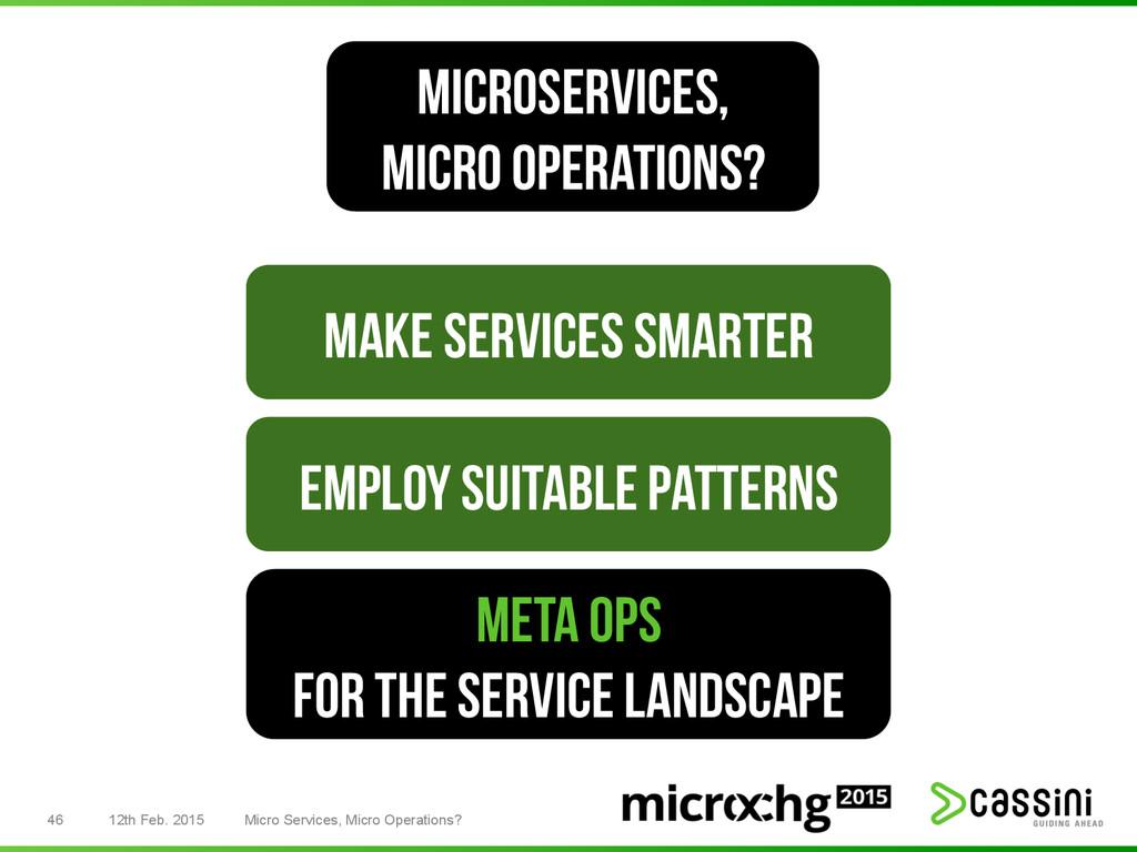 46 12th Feb. 2015 Micro Services, Micro Operati...