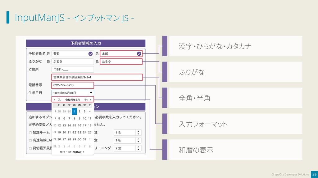 InputManJS - インプットマン JS - 29 GrapeCity Develope...