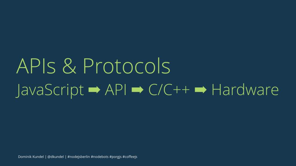 APIs & Protocols JavaScript ➡ API ➡ C/C++ ➡ Har...