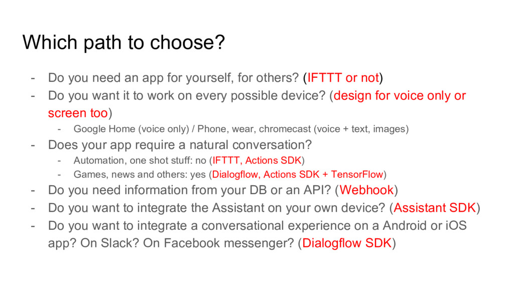 Which path to choose? - Do you need an app for ...