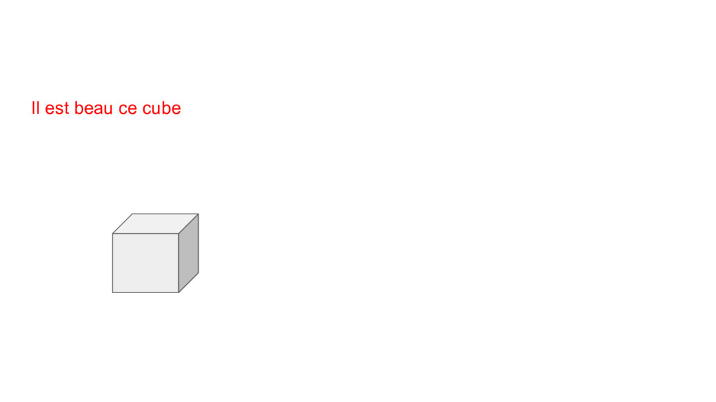 Il est beau ce cube