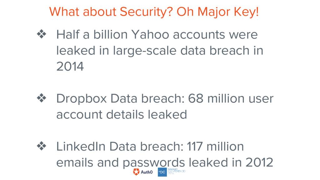 ❖ Half a billion Yahoo accounts were leaked in ...