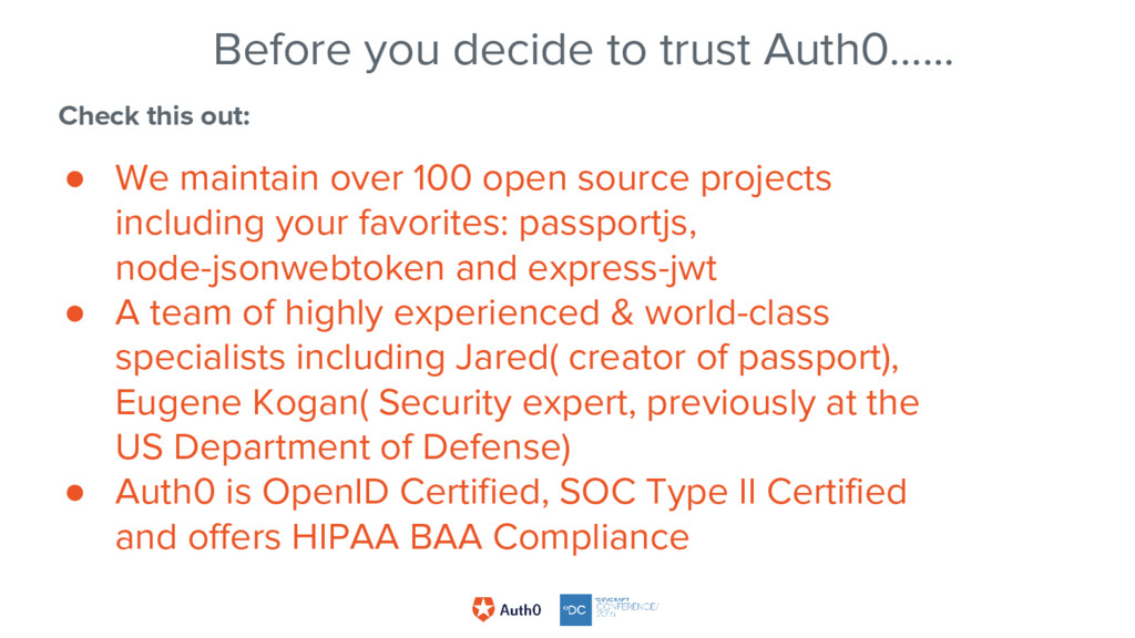 Before you decide to trust Auth0…... Check this...