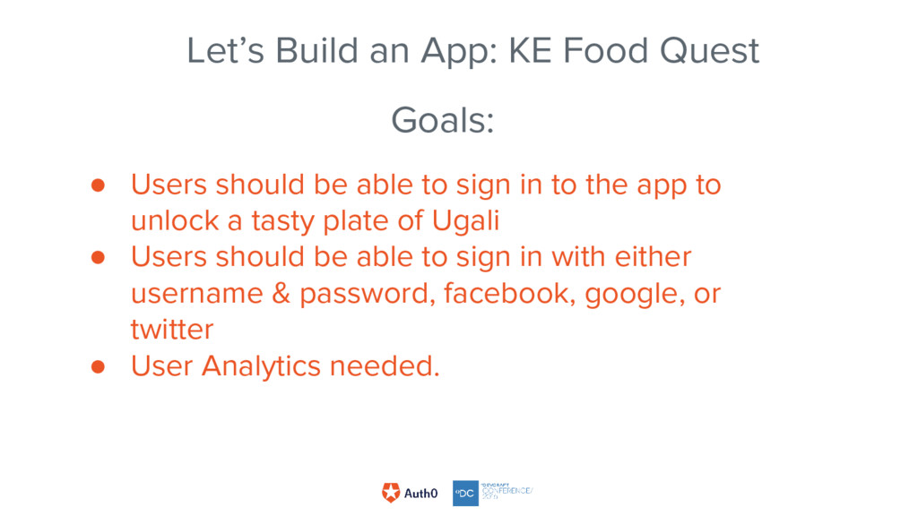 Goals: ● Users should be able to sign in to the...