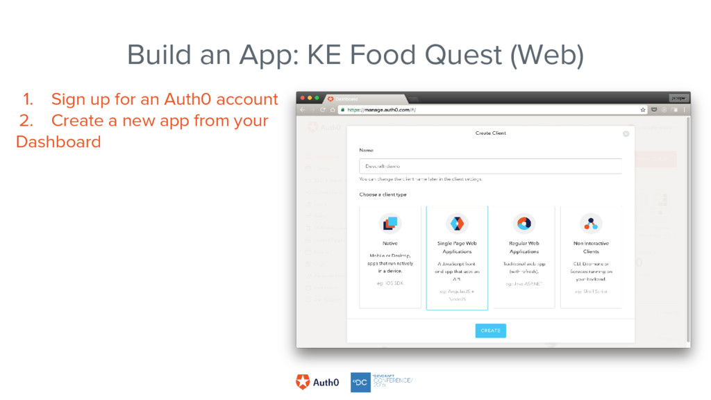 1. Sign up for an Auth0 account 2. Create a new...