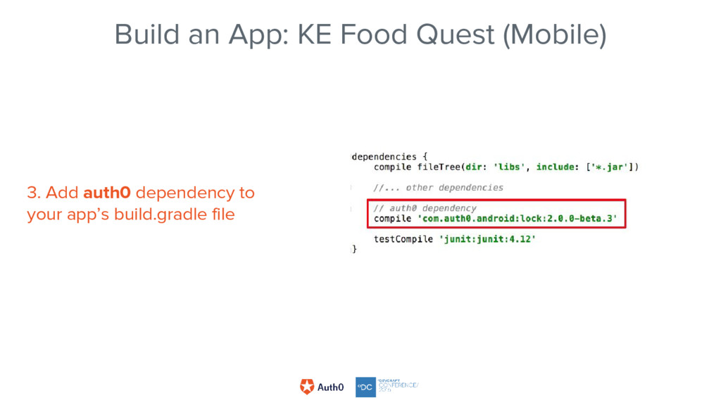 Build an App: KE Food Quest (Mobile) 3. Add aut...
