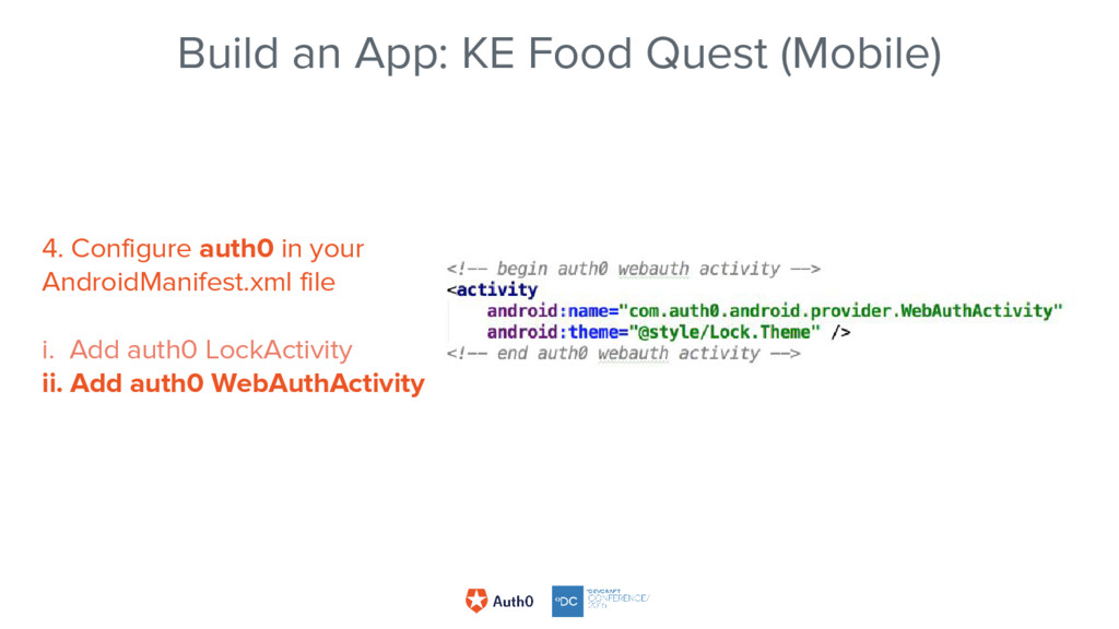 Build an App: KE Food Quest (Mobile) 4. Configu...