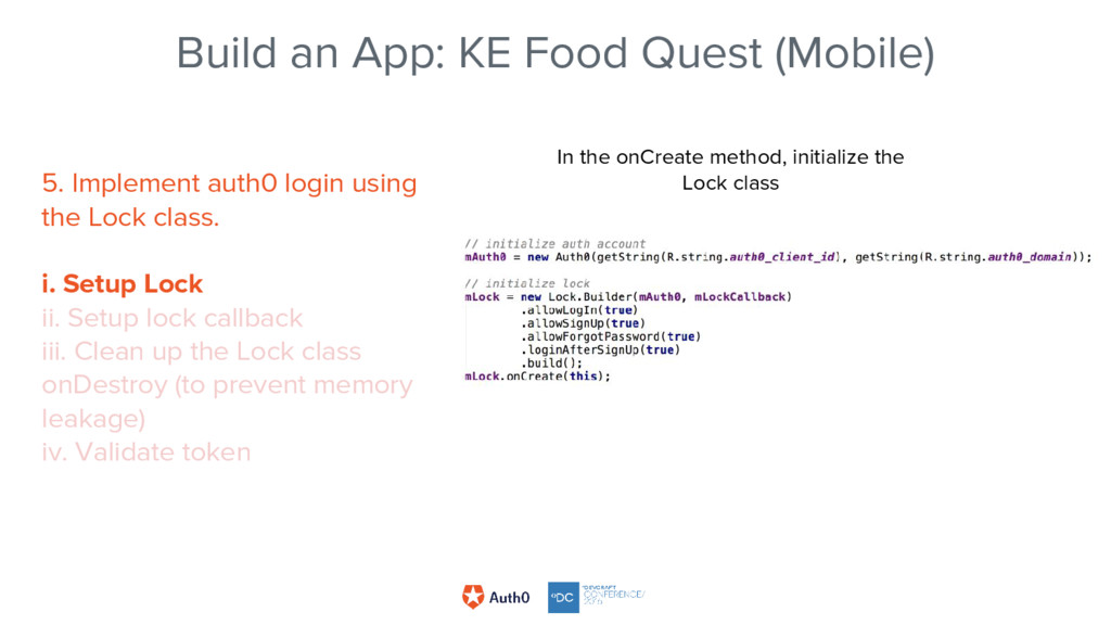 Build an App: KE Food Quest (Mobile) In the onC...