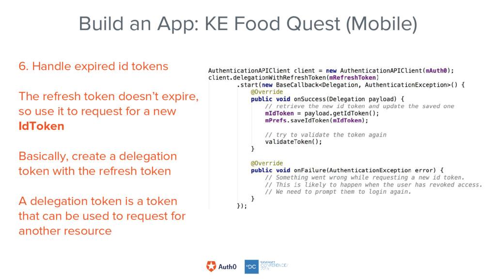 Build an App: KE Food Quest (Mobile) 6. Handle ...