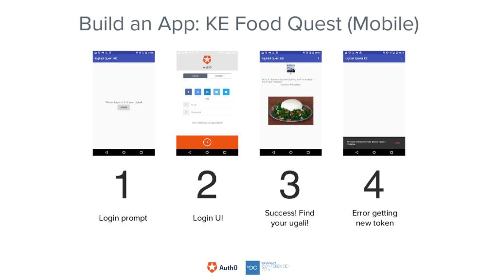 Build an App: KE Food Quest (Mobile) Login prom...