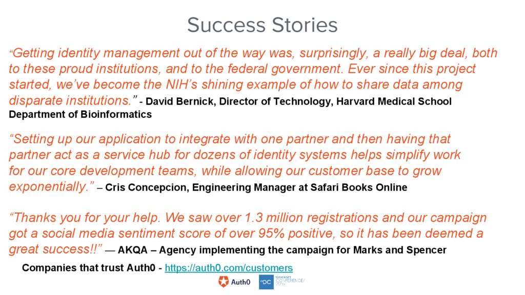 """Success Stories """"Getting identity management ou..."""