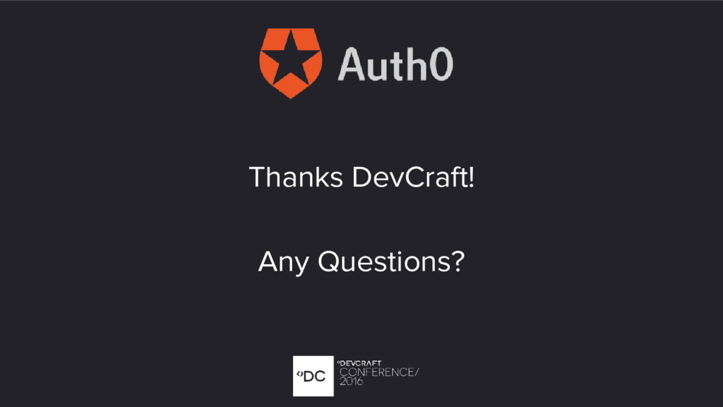 Thanks DevCraft! Any Questions?