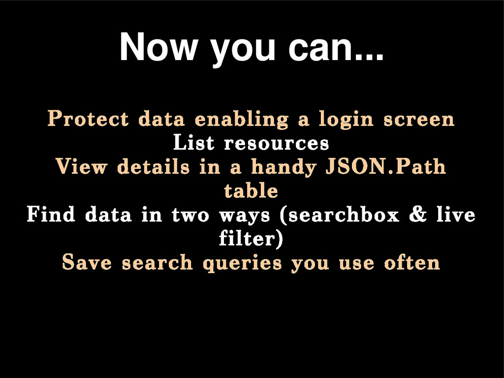 Protect data enabling a login screen List resou...