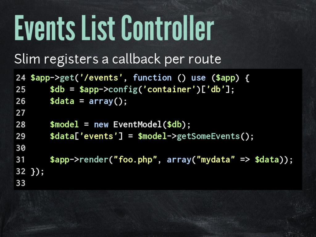 Events List Controller Slim registers a callbac...