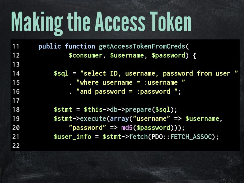 Making the Access Token 11 public function getA...