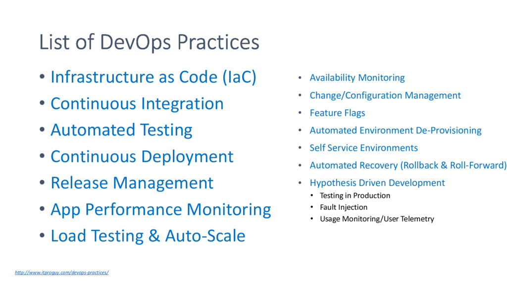 • Infrastructure as Code (IaC) • Continuous Int...