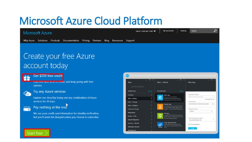 Microsoft Azure Cloud Platform