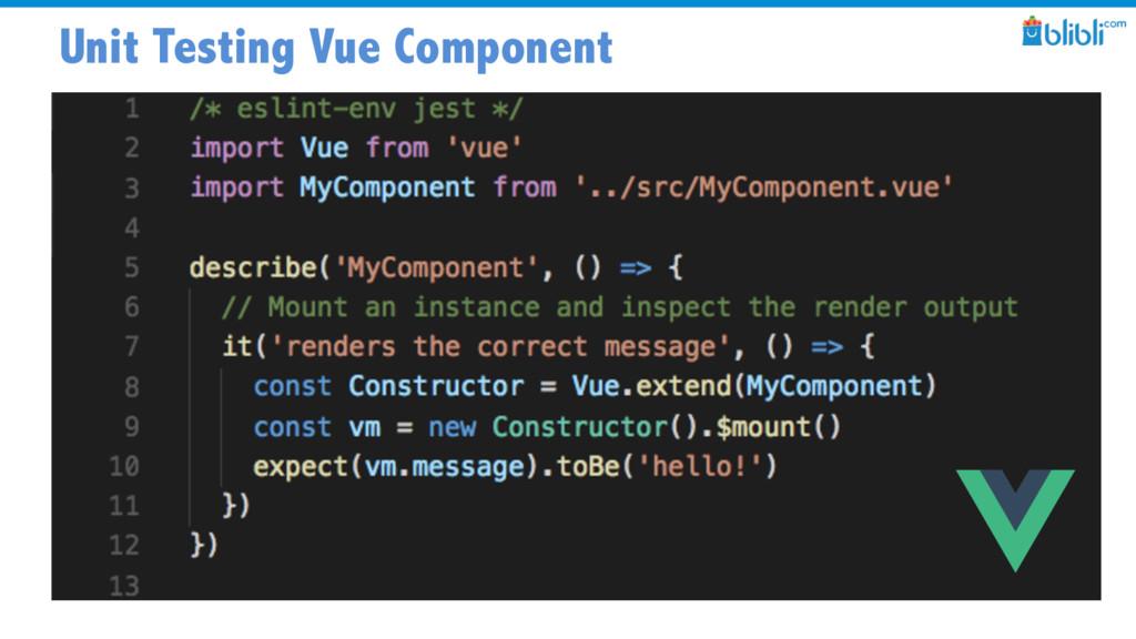 Unit Testing Vue Component