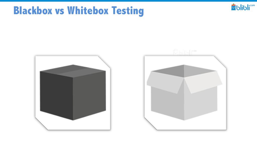 Blackbox vs Whitebox Testing
