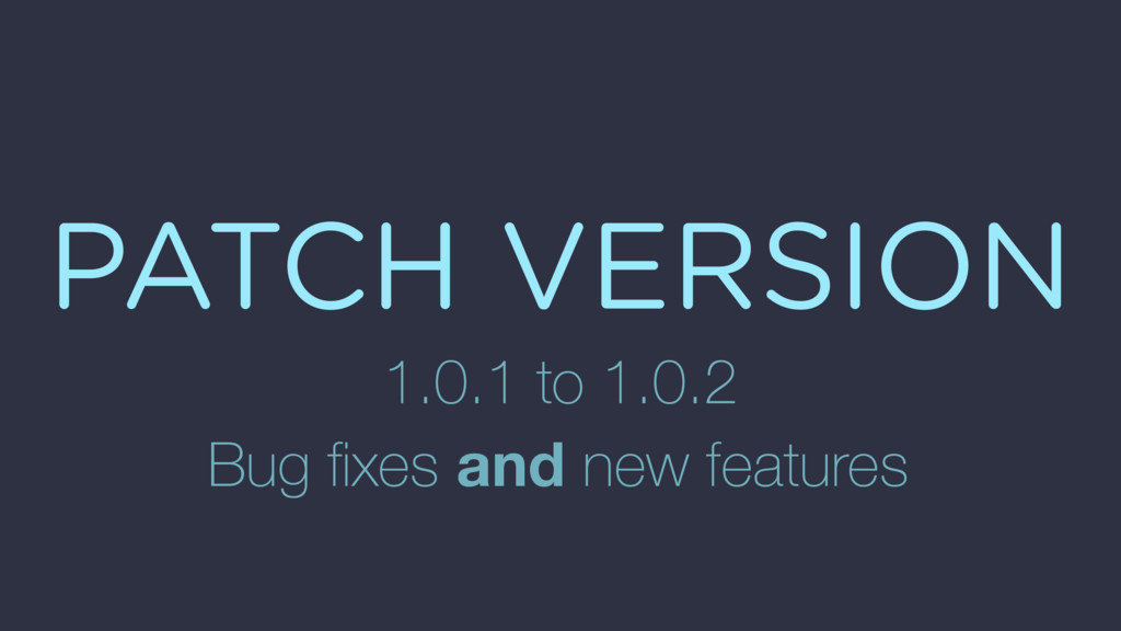 PATCH VERSION 1.0.1 to 1.0.2 Bug fixes and new f...