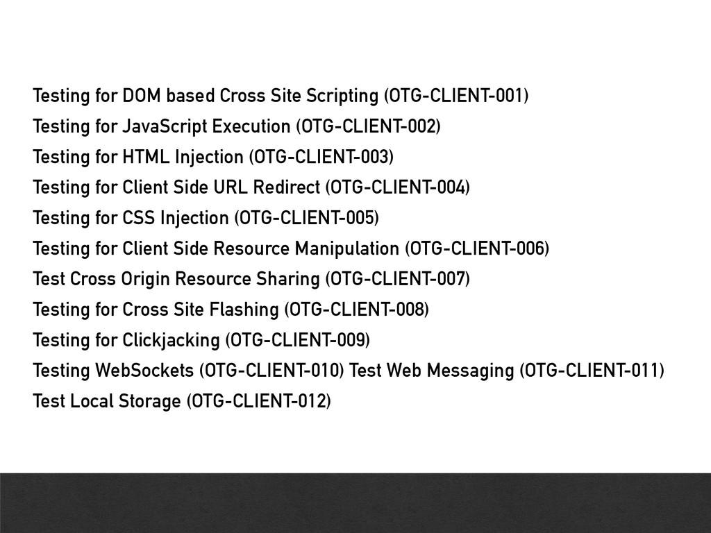 Testing for DOM based Cross Site Scripting (OTG...