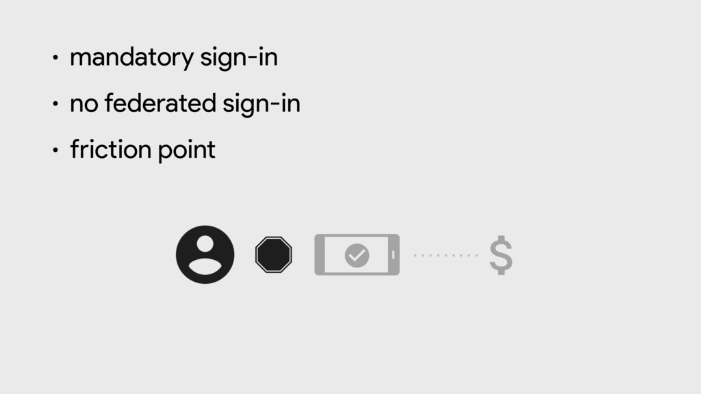 • mandatory sign-in  • no federated sign-in  • ...