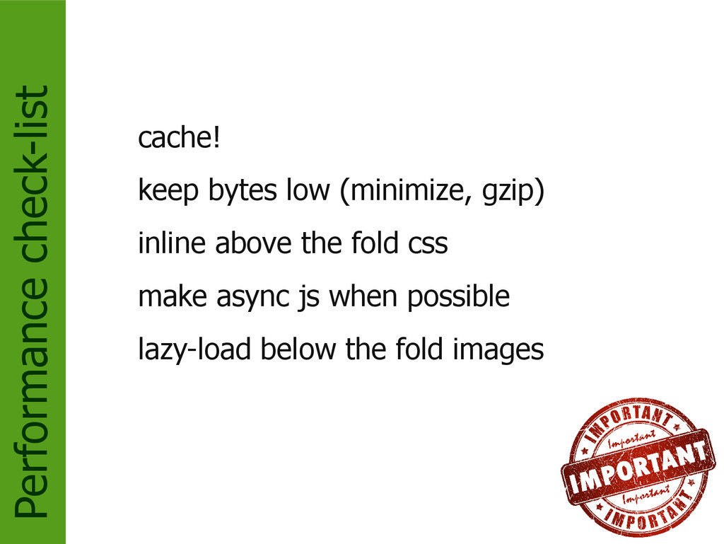 Performance check-list cache! keep bytes low (m...