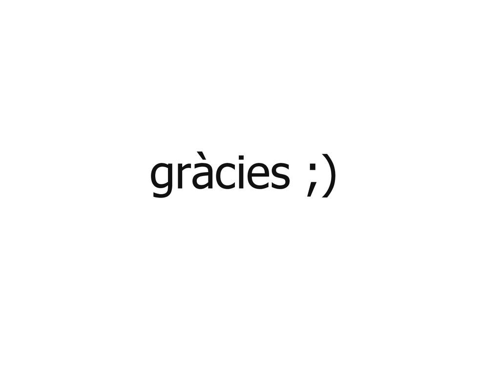 gràcies ;)