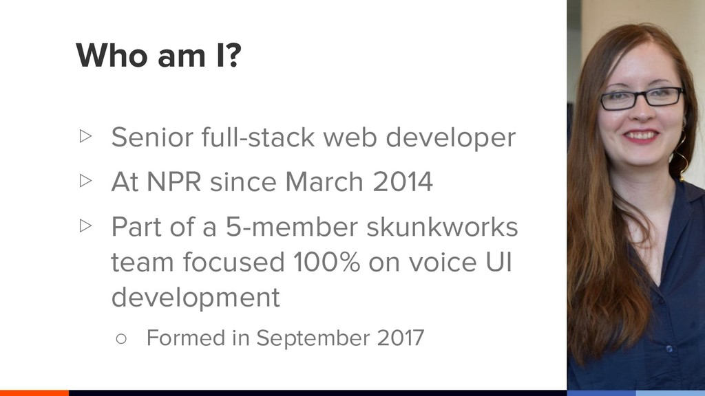 Who am I? ▷ Senior full-stack web developer ▷ A...