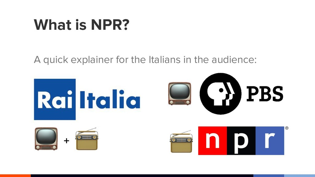 What is NPR? A quick explainer for the Italians...