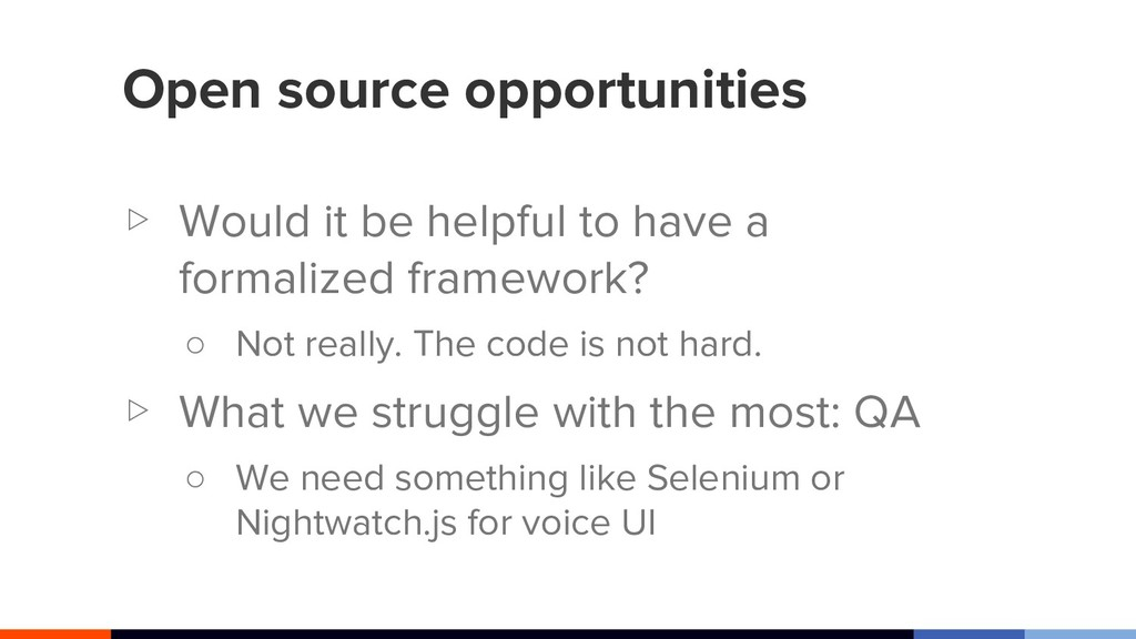 Open source opportunities ▷ Would it be helpful...