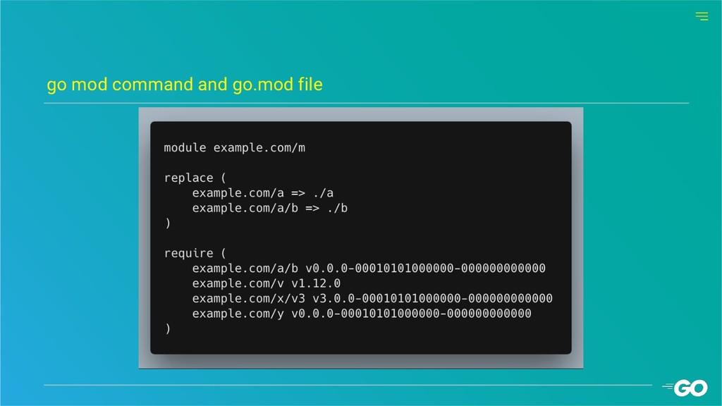 go mod command and go.mod file