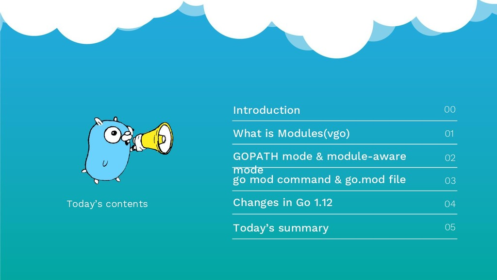 Today's contents Introduction 00 What is Module...