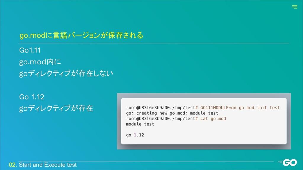 Go1.11 go.mod内に goディレクティブが存在しない Go 1.12 goディレクテ...