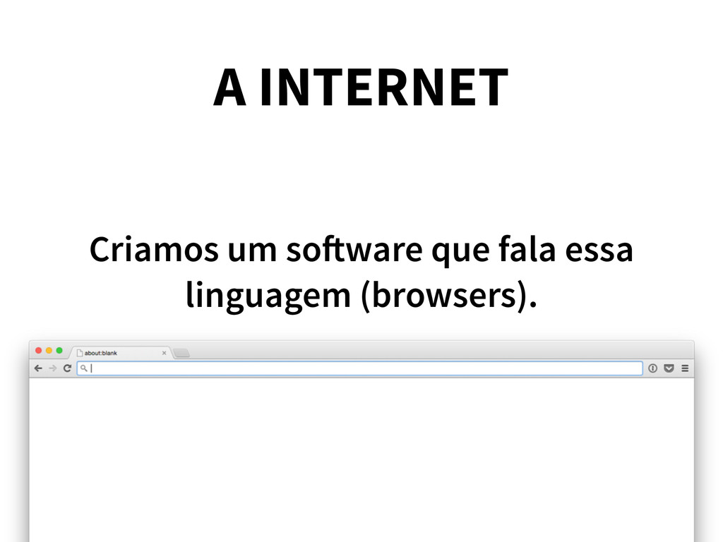 A INTERNET Criamos um software que fala essa li...