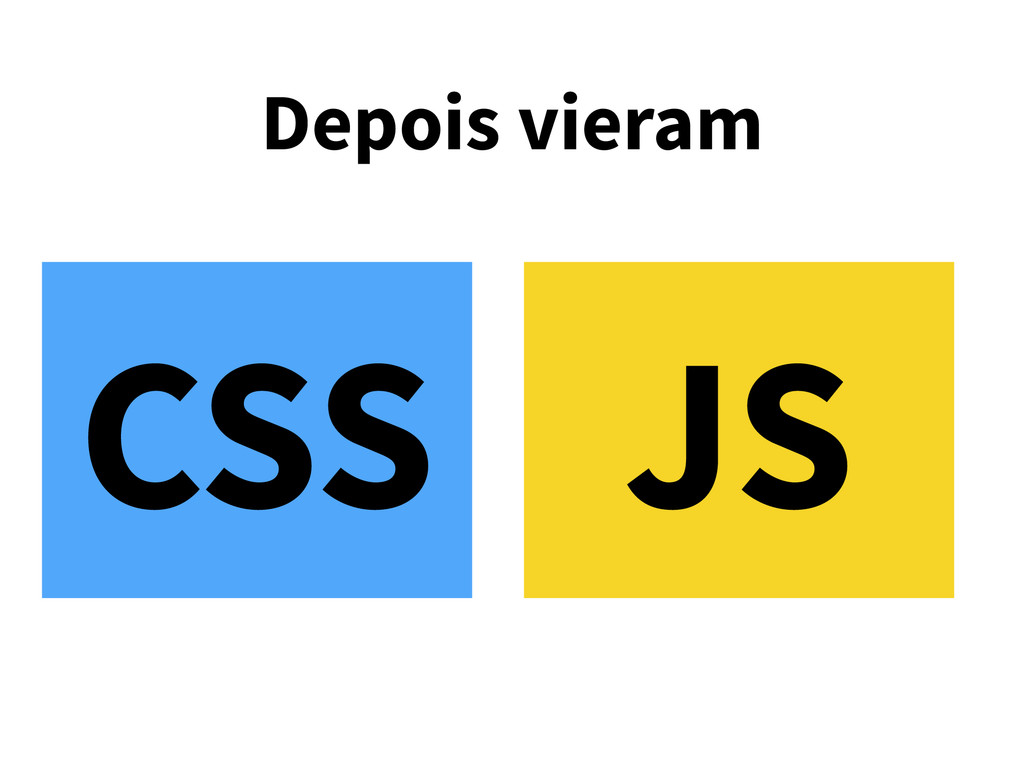 Depois vieram CSS JS