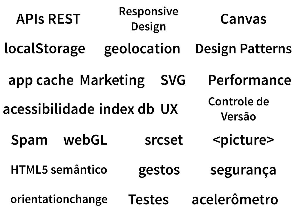 localStorage app cache acessibilidade index db ...