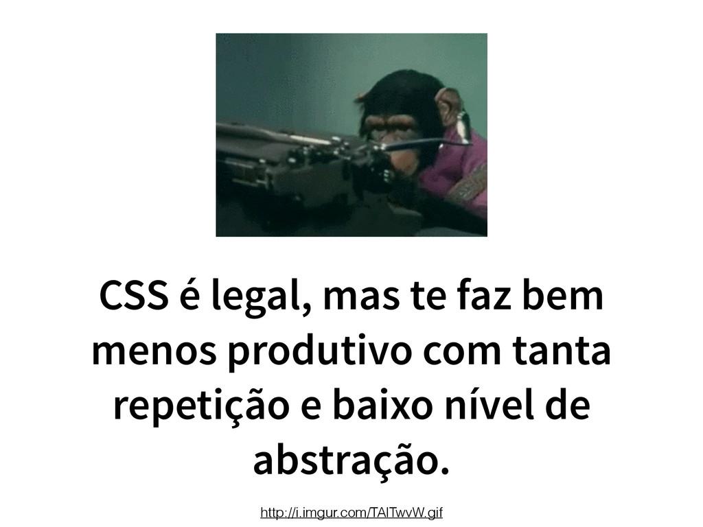 CSS é legal, mas te faz bem menos produtivo com...