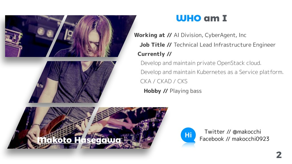 2 Makoto Hasegawa Working at // AI Division, Cy...