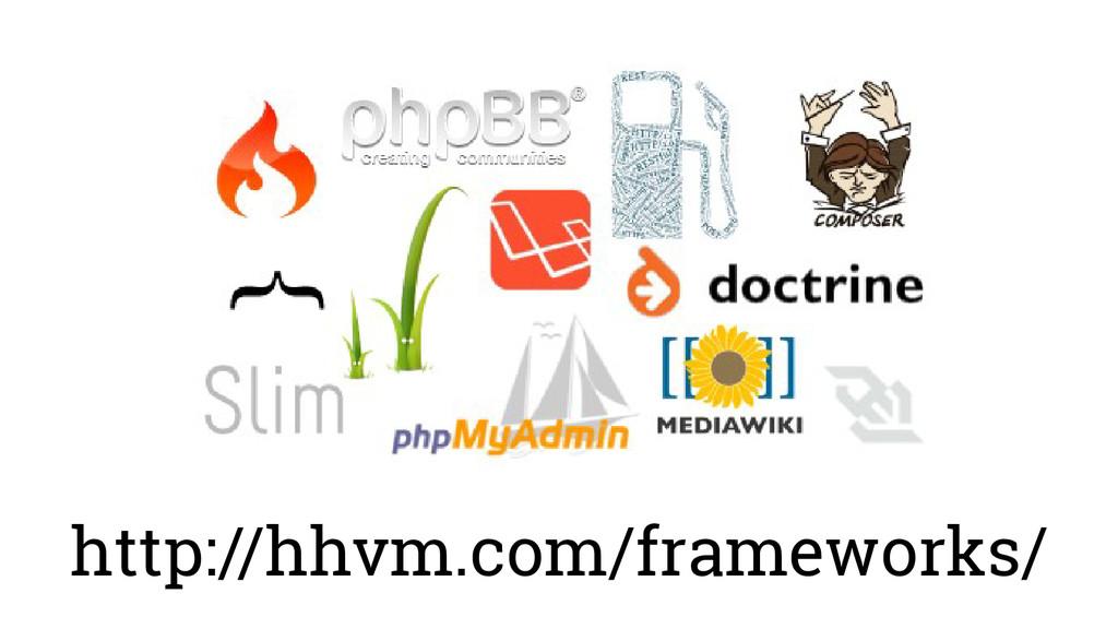 http://hhvm.com/frameworks/