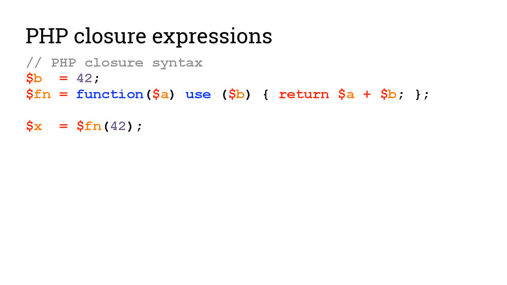 PHP closure expressions // PHP closure syntax $...