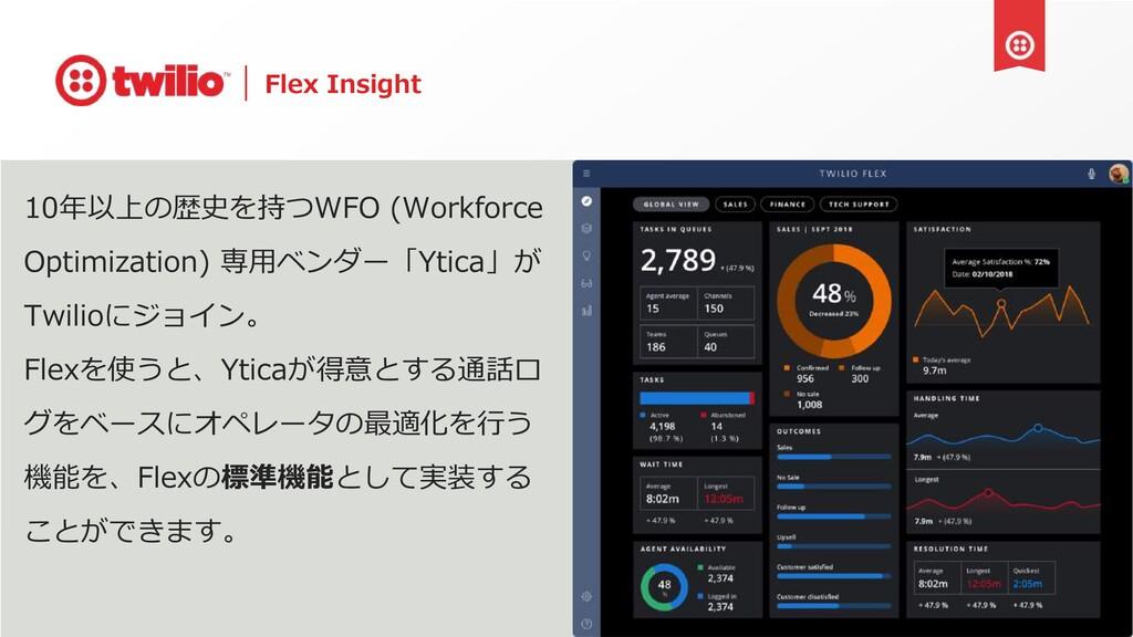 Flex Insight 10年以上の歴史を持つWFO (Workforce Optimiza...