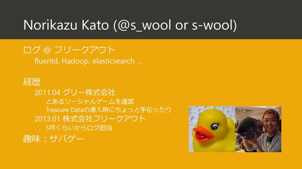 Norikazu Kato (@s_wool or s-wool) ログ @ フリークアウト ...