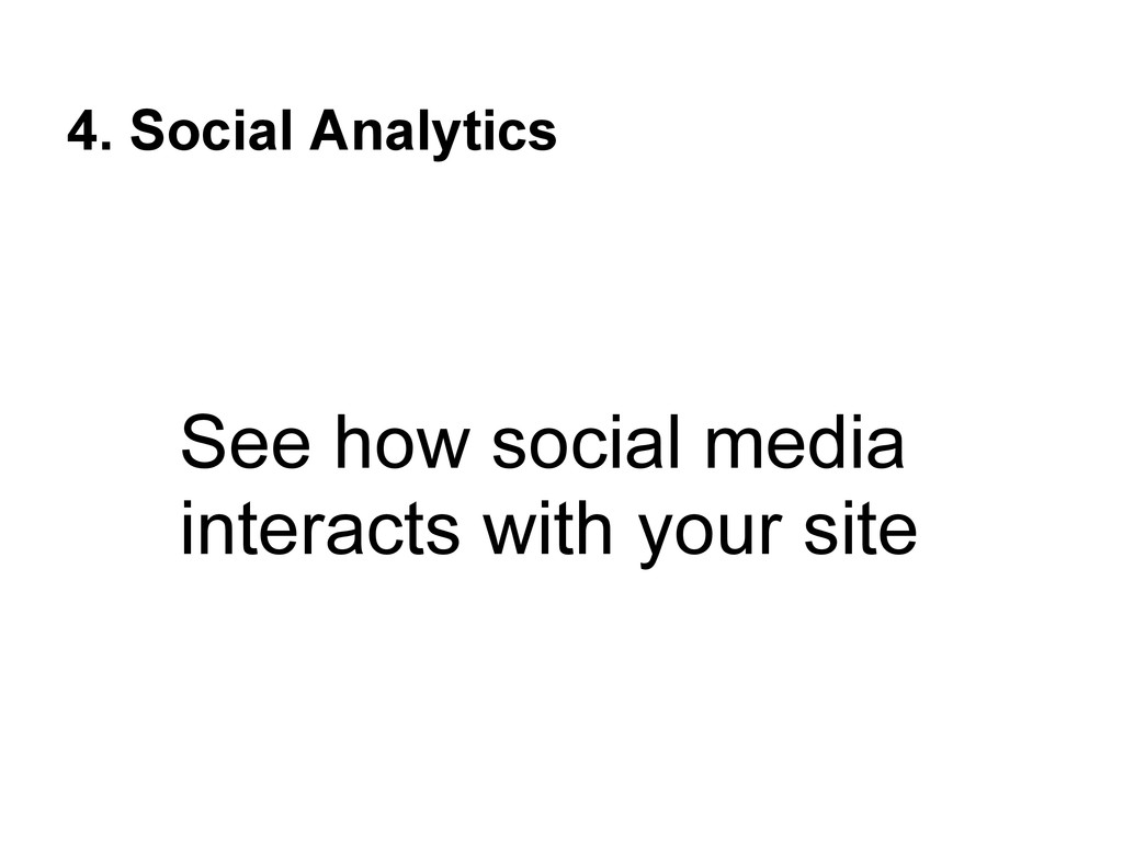 4. Social Analytics See how social media intera...
