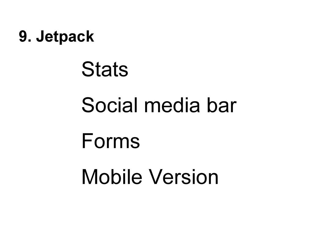 9. Jetpack Stats Social media bar Forms Mobile ...